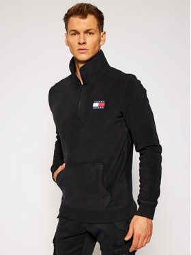 Tommy Jeans Tommy Jeans Polár kabát Tjm Fleece Badge DM0DM09779 Fekete Regular Fit