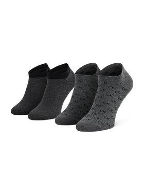 Calvin Klein Calvin Klein Комплект 2 чифта къси чорапи мъжки 701218715 Сив