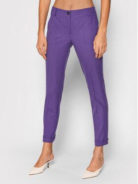 Marella Marella Spodnie materiałowe Agami 31360416 Fioletowy Regular Fit