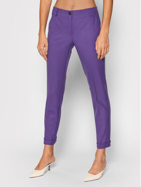 Marella Marella Stoffhose Agami 31360416 Violett Regular Fit