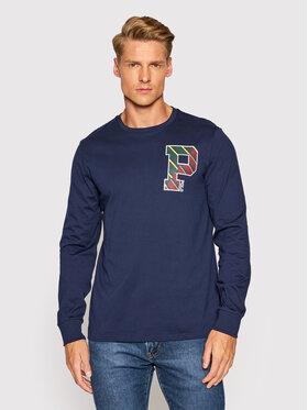 Polo Ralph Lauren Polo Ralph Lauren Тениска с дълъг ръкав Lsl 710853270001 Тъмносин Slim Fit