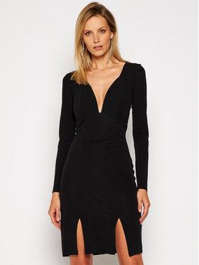 Just Cavalli Just Cavalli Koktejlové šaty S04CT1087 Černá Slim Fit