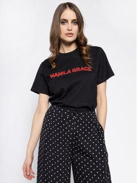 Manila Grace Manila Grace T-Shirt T169CU Czarny Regular Fit