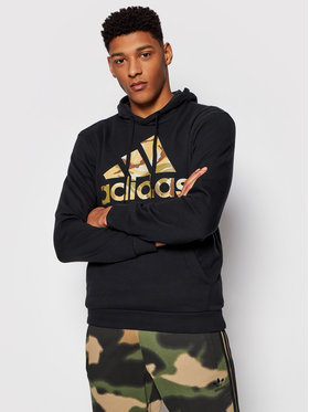 adidas adidas Pulóver Essentials Camouflage GL0019 Fekete Regular Fit