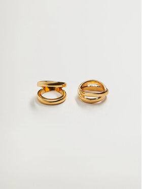 Mango Mango Zestaw 2 pierścionków Percy 87054036 Złoty
