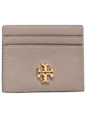 Tory Burch Tory Burch Kreditinių kortelių dėklas Kira Pebbled Card Case 74884 Pilka