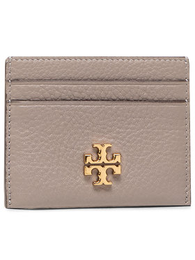 Tory Burch Tory Burch Puzdro na kreditné karty Kira Pebbled Card Case 74884 Sivá