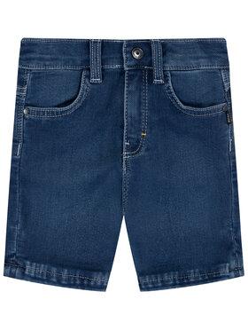 Boss Boss Pantaloni scurți de blugi J04373 D Bleumarin Regular Fit