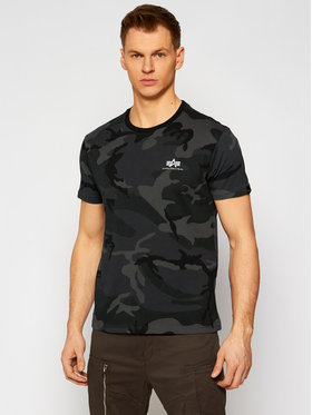 Alpha Industries Alpha Industries T-shirt Basic T Small Logo Camo 188505C Gris Regular Fit