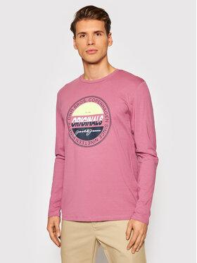 Jack&Jones Jack&Jones Тениска с дълъг ръкав Mason 12196647 Розов Standard Fit