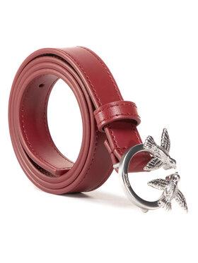 Pinko Pinko Damengürtel Berry Small Simply 2 Belt AI 20-21 PLT01 1H20S6 Y5FF Dunkelrot