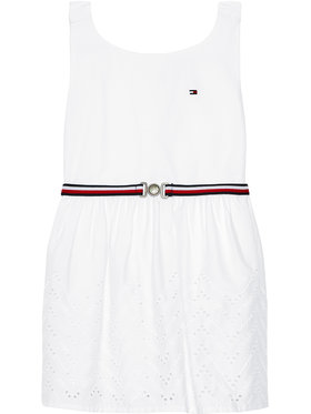 Tommy Hilfiger Tommy Hilfiger Sukienka elegancka Shiffley KG0KG05835 M Biały Regular Fit