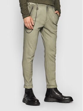 Tigha Tigha Spodnie materiałowe Cornelio 105566 Zielony Slim Fit