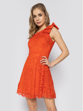 Guess Guess Φόρεμα κοκτέιλ Celia W0GK1L K96U0 Κόκκινο Slim Fit