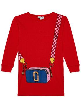 Little Marc Jacobs Little Marc Jacobs Každodenné šaty W12333 M Červená Regular Fit