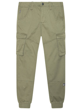 NAME IT NAME IT Spodnie materiałowe Bamgo 13151735 Zielony Regular Fit