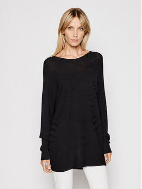 Kontatto Kontatto Sweater 3M7225 Fekete Relaxed Fit