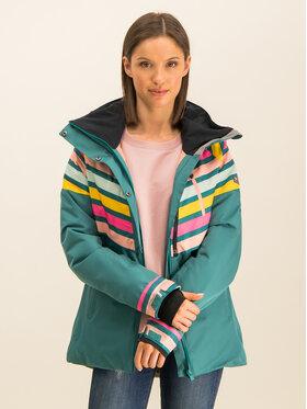 Roxy Roxy Snowboardová bunda Frozen Flow ERJTJ03219 Zelená Short Fit