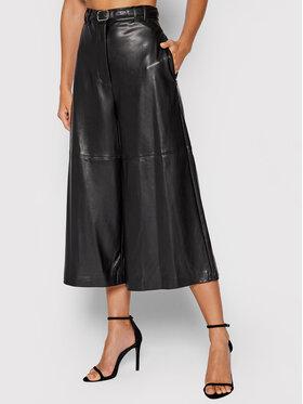 Guess Guess Spodnie z imitacji skóry W1BB15 KAWP0 Czarny Relaxed Fit