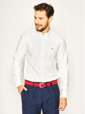 TOMMY HILFIGER TOMMY HILFIGER Koszula Twill Shirt MW0MW12761 Biały Regular Fit