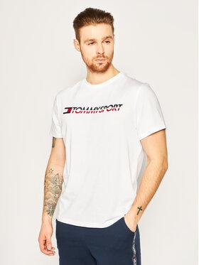 Tommy Sport Tommy Sport Marškinėliai Logo Chest S20S200051 Balta Regular Fit