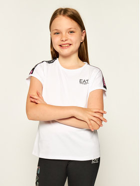 EA7 Emporio Armani EA7 Emporio Armani T-shirt 3HFT55 FJT2Z 1100 Blanc Regular Fit