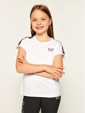 EA7 Emporio Armani EA7 Emporio Armani T-Shirt 3HFT55 FJT2Z 1100 Weiß Regular Fit