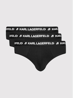 KARL LAGERFELD KARL LAGERFELD Комплект 3 чифта слипове Logo 211M2103 Черен