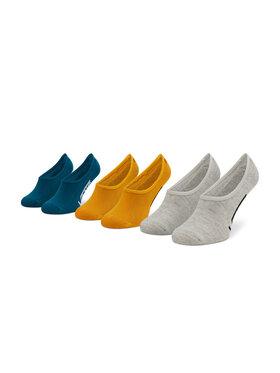 Vans Vans Súprava 3 párov krátkych pánskych ponožiek Classic Super No VN000XTTLSV1 Žltá
