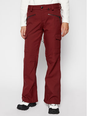 Volcom Volcom Spodnie snowboardowe Grace Stretch H1352007 Bordowy Modern Slim Fit