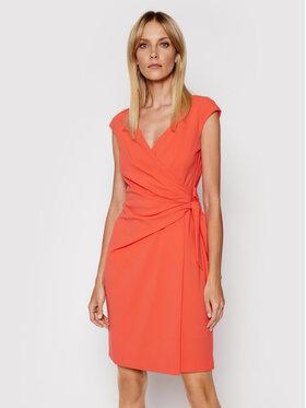 Lauren Ralph Lauren Lauren Ralph Lauren Sukienka koktajlowa 253838965003 Pomarańczowy Regular Fit