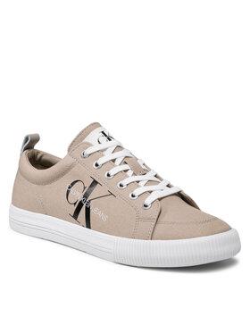 Calvin Klein Jeans Calvin Klein Jeans Tenisówki Vulcanized Laceup Sneaker YM0YM0274 Brązowy