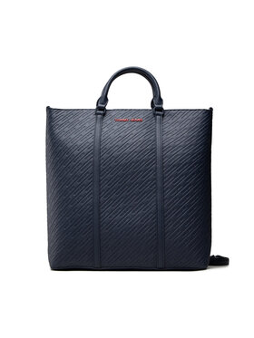 Tommy Jeans Tommy Jeans Torebka Tjw Pu Tote Emboss AW0AW10872 Granatowy