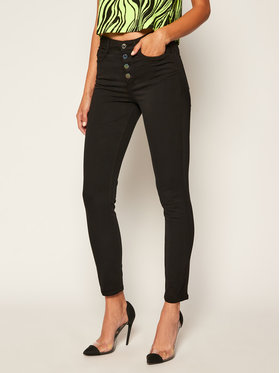 Guess Guess Skinny Fit Jeans 1981 Exposed Button W0YA28 W77RB Schwarz Skinny Fit