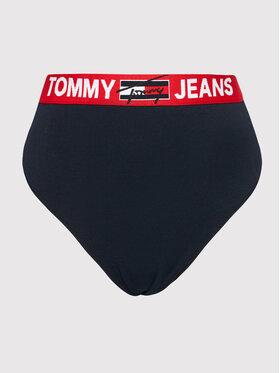 Tommy Jeans Tommy Jeans Klasické nohavičky s vysokým pásom Curve UW0UW03046 Tmavomodrá