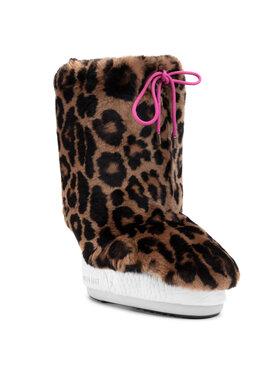 Moon Boot Moon Boot Kožešinový návlek na obuv Cover Rex Rabbit 140C0V04001 Hnědá
