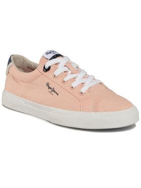Pepe Jeans Pepe Jeans Sneakers aus Stoff Kenton Basic Woman PLS30990 Rosa