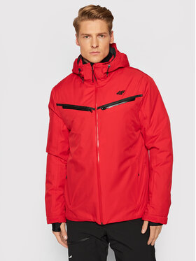 4F 4F Geacă de schi KUMN007 Roșu Regular Fit