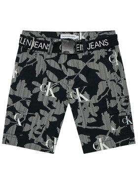 Calvin Klein Jeans Calvin Klein Jeans Pantalon scurți din material IB0IB00788 Negru Regular Fit