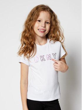 DKNY DKNY Póló D35Q77 S Fehér Regular Fit