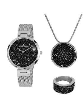 Jacques Lemans Jacques Lemans Zestaw upominkowy Jewellery Set 1-2035G-SET56 Srebrny