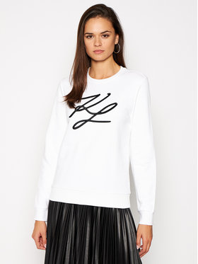 KARL LAGERFELD KARL LAGERFELD Sweatshirt Kl Signature 201W1880 Blanc Regular Fit