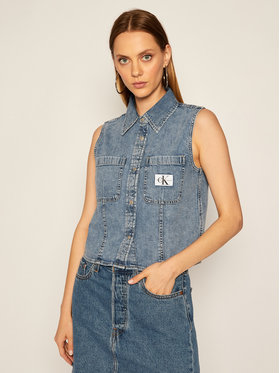 Calvin Klein Jeans Calvin Klein Jeans Vestă Denim J20J214421 Albastru Regular Fit