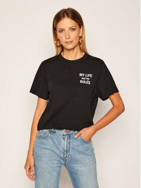 IRO IRO T-Shirt Mylife AN158 Czarny Regular Fit