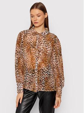 Guess Guess Marškiniai Yora Button W1GH04 RE2E0 Ruda Regular Fit