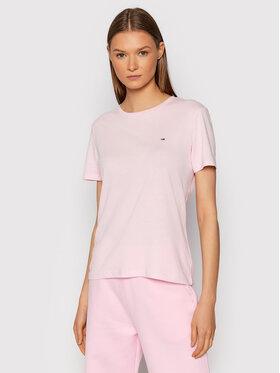 Tommy Jeans Tommy Jeans T-Shirt Soft Jersey DW0DW06901 Růžová Regular Fit