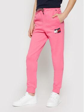 Tommy Hilfiger Tommy Hilfiger Teplákové kalhoty Flag Print KG0KG05769 D Růžová Regular Fit