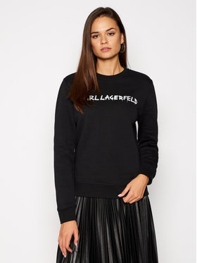 KARL LAGERFELD KARL LAGERFELD Sweatshirt Graffiti Logo 206W1800 Schwarz Regular Fit