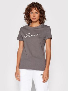 Guess Guess T-Shirt Amelia O1BA08 K8HM0 Szary Regular Fit