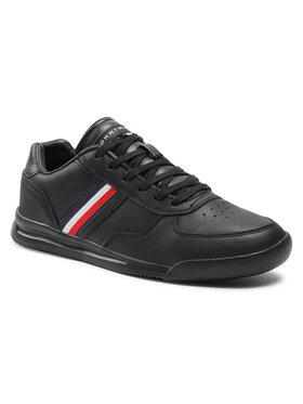 Tommy Hilfiger Tommy Hilfiger Sneakers Lightweight Leather Sneaker Flag FM0FM03471 Noir